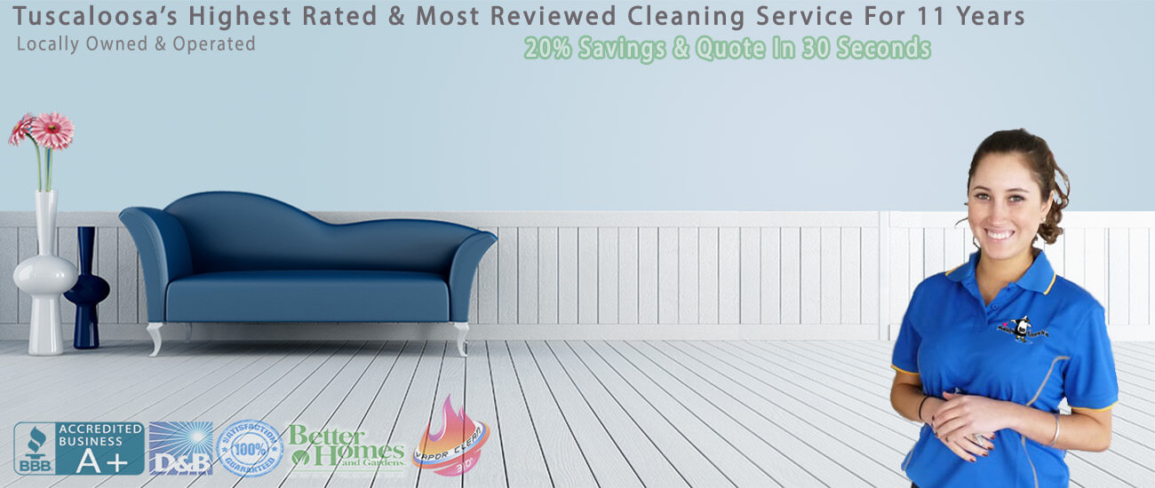 Maid service for home and business featuring vapor heat cleaning